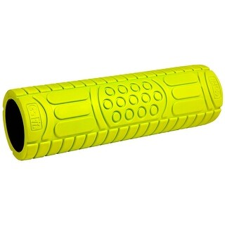 "GoFit 18"" Deep Tissue Massage Foam Roller with Training Manual - Green"