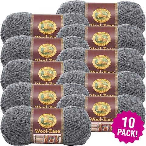 Lion Brand Wool-Ease Yarn 10/Pk-Oxford Grey