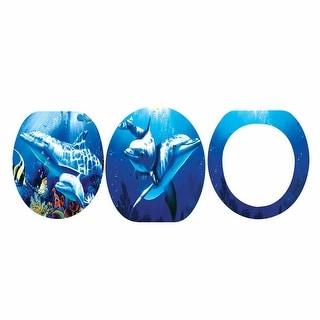 Toilet Seat Dolphin Ocean Elongated Brass PVD Hinge   Renovator's Supply