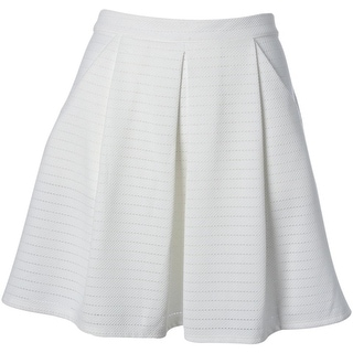 Aqua Womens Textured Pleated A-Line Skirt