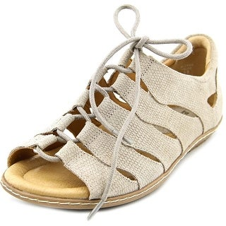 Earth Plover Women  Open Toe Leather  Gladiator Sandal