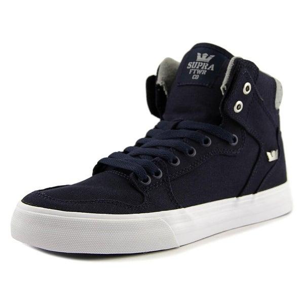 Supra Vaider Men Round Toe Canvas Blue Skate Shoe
