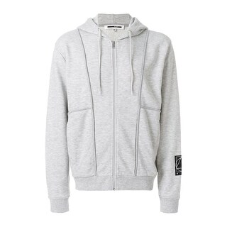 McQ Alexander McQueen Glyph Icon Patch Hoodie Sweatshirt Small S Smoke Melange