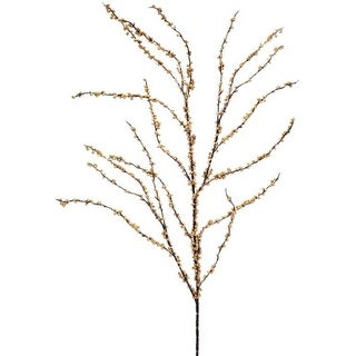 """Pack of 12 Decorative Black and Gold Iced Berry Artificial Christmas Sprays 50"""""""