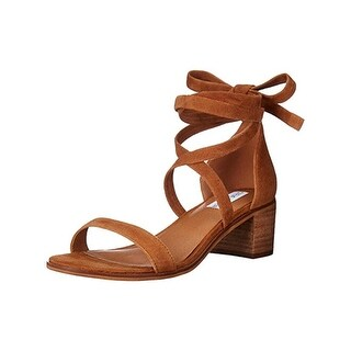 Steve Madden Womens Rizzaa Dress Sandals Suede Stacked Heel