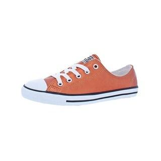 Converse Womens CTAS Dainty Metallic Leather O Fashion Sneakers Low Top Cap Toe