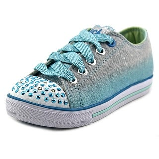 Twinkle Toes By Skechers S Lights-Shuffles-Lovable Youth Gray