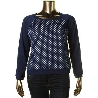 Levi's Womens Juniors Star-Print Raglan Sleeves Sweatshirt - XL