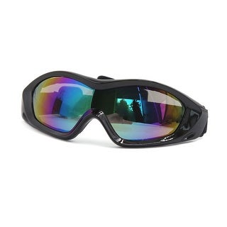 Unique Bargains Black Frame Colorful Lens Motorcycle Eye Protection Goggles Glasses Anti-UV Fog
