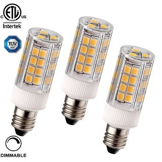 1 PACK/3 PACK 3.5W (40W Equiv.) Dimmable E11 LED Light Bulb, ETL-Listed, 400lm, 3000K Warm White