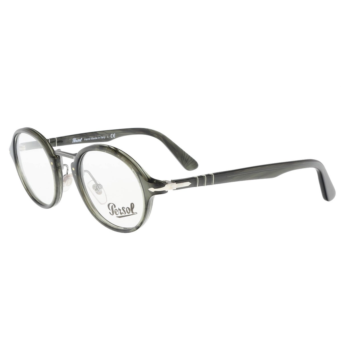 03c20500ede4 Shop Persol PO3128V 1020 Grey Round Optical Frames - 46-22-145 - Free  Shipping Today - Overstock - 20773515