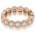 2.10 cttw. 14K Rose Gold Round Diamond Eternity Ring - Thumbnail 0