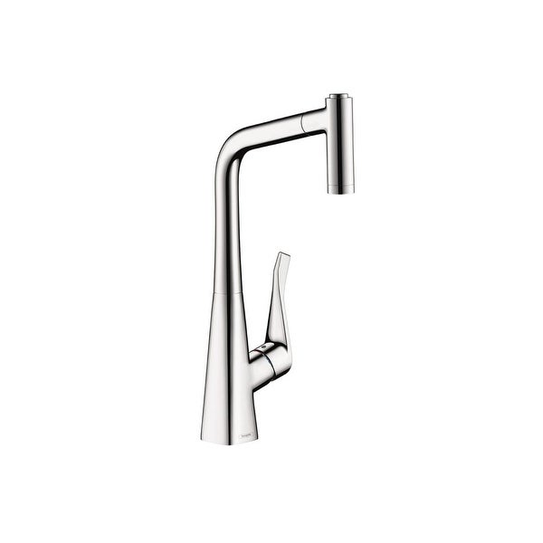 Hansgrohe 14820 Metris High Arc Pull Out Kitchen Faucet With Magnetic Docking Spray Head And Locking Diverter Free Shipping Today