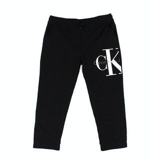 Calvin Klein NEW Men's Black Size 2XL Logo Pull-On Drawstring Pants
