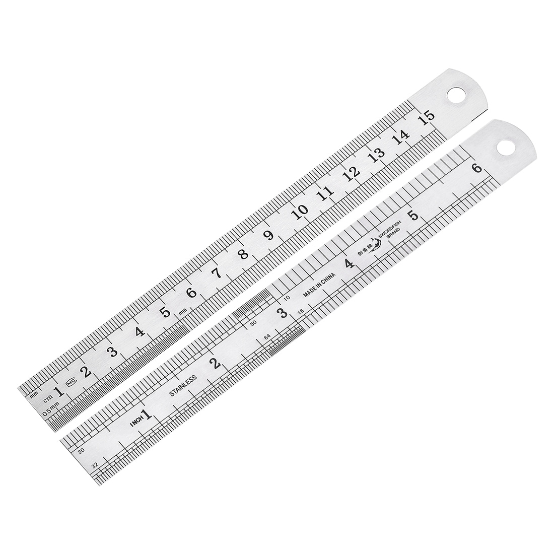 """2 x Steel Rule 1 x 12/"""",1 x 6/"""" Precision Stainless Steel Rules Clear 300mm"""
