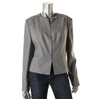 BOSS Hugo Boss Womens Jamyva Collarless Blazer Wool Woven