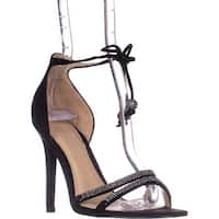 Guess Peri Tie Up Ankle Strap Heeled Sandals, Black