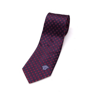 Versace Men Slim Silk Neck Tie CR8LSEB0893 0001 Navy Blue
