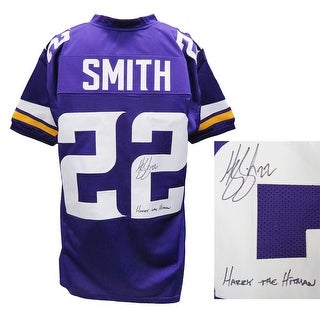 Harrison Smith Purple Custom Football Jersey WHarry The Hitman