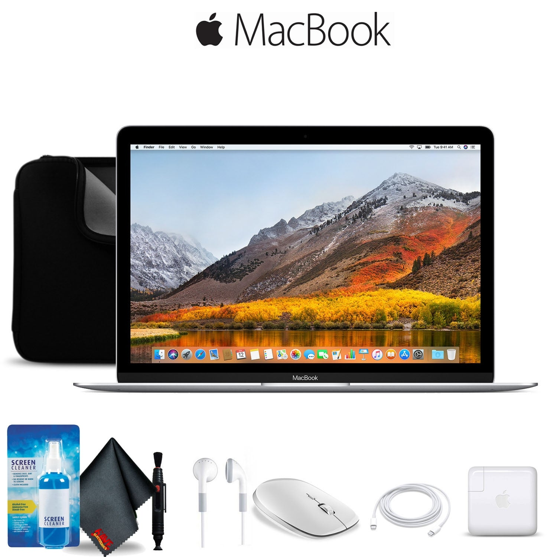 Apple 12 MacBook Silver Retina, 8GB RAM, Mac OS, With Case Bundle Starter