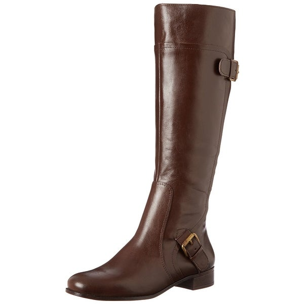 Nine West Womens Sookie Leather Almond Toe Knee High Fashion Boots