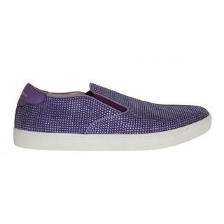 Dolce & Gabbana Dolce & Gabbana Purple Strass Canvas Logo Sneakers
