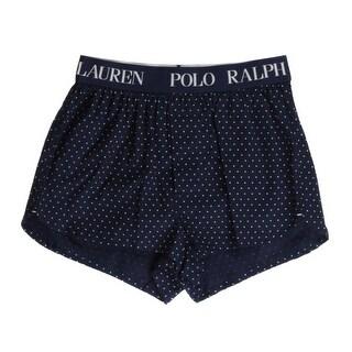 Polo Ralph Lauren NEW Blue Mens Size Large L Polka Dot-Print Slim-Fit Boxer 086