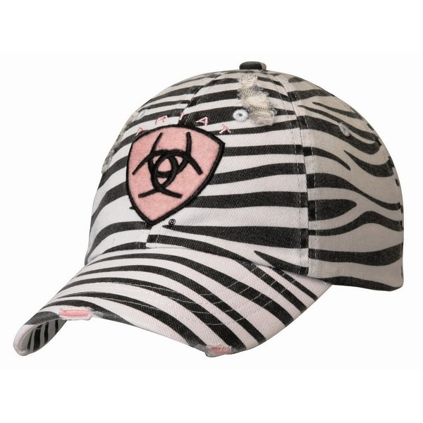 Shop Ariat Hat Womens Zebra Logo Embroidered OSFA Black White - Free  Shipping On Orders Over  45 - Overstock - 20100607 1849f9504ab