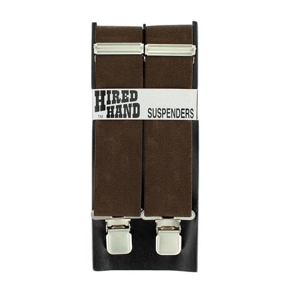 Nocona Suspenders Mens Galluse Nylon Chocolate