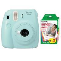 Fujifilm Instax Mini 9 (Ice Blue) with Instax Mini Film (20 Sheets)