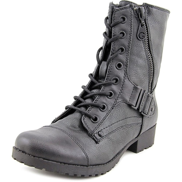 G By Guess Brookey Women Round Toe Synthetic Black Ankle Boot