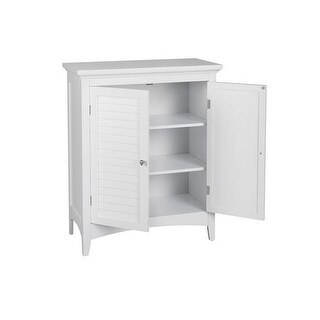 Elegant Home Fashions ELG-585 Slone Floor Cabinet with 2 Shutter Doors