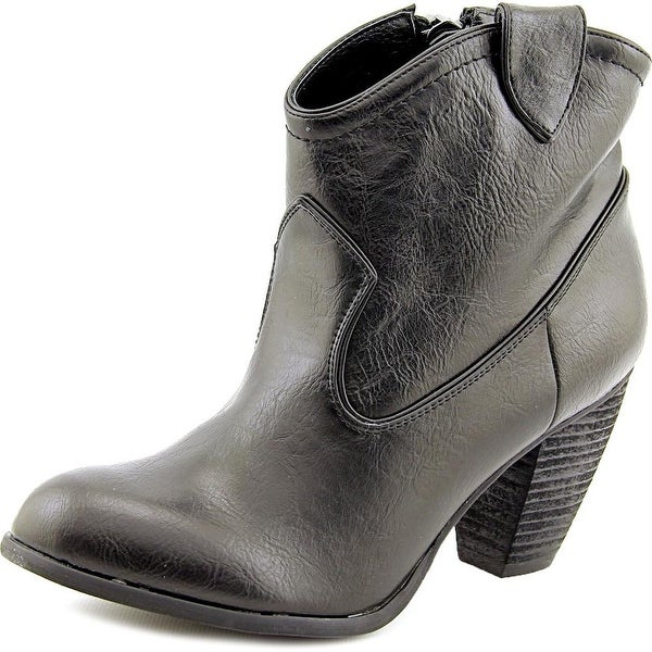Not Rated Geronimo Women Round Toe Synthetic Black Ankle Boot
