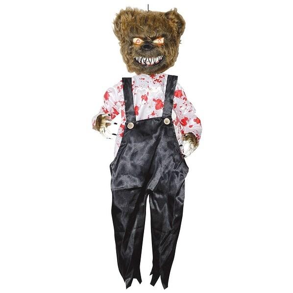 Animated Bloody Bear Halloween Prop Décor