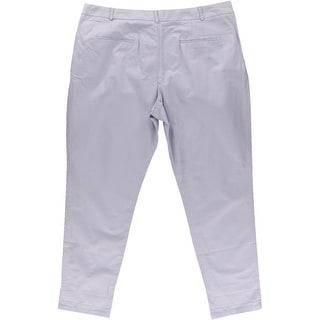 Zara Basic Womens Cotton Twill Casual Pants - XL