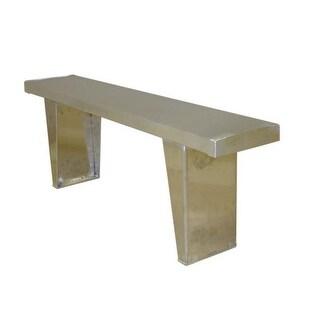 Prairie View 6 ft. Aluminum Single Plank Bench Seat, 17.4 x 9.5