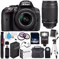 Nikon D5300 Digital Camera w/ 18-55 VR II Lens (International Model No Warranty) + Nikon 70-300mm f/4-5.6G Zoom Lens Bundle 38