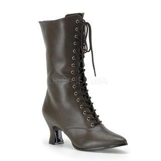 Womens Halloween Brown Victorian Steampunk Boots