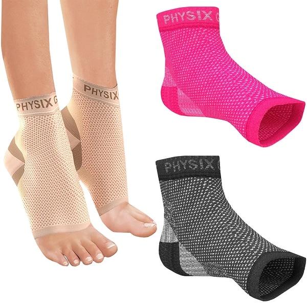 4c3c6a1e1b Shop Physix Gear Sport Plantar Fasciitis Compression Foot Sleeves ...