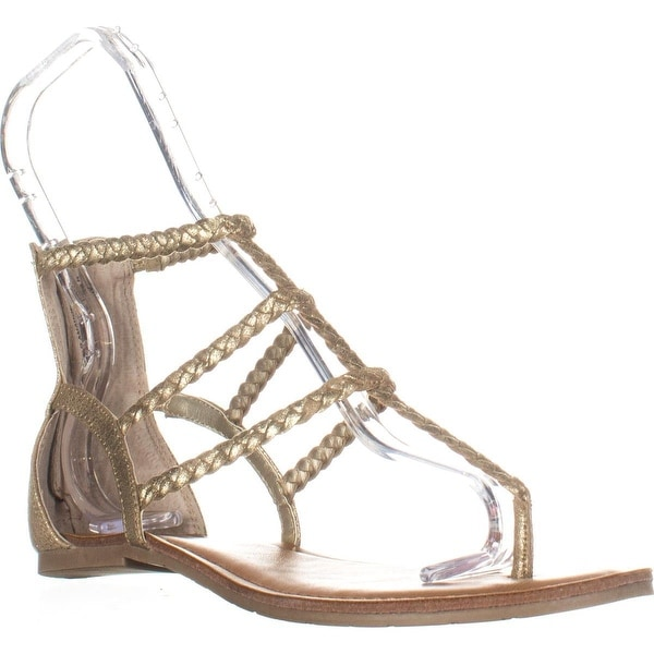 AR35-Adora Zippered Glitter Sandals, Gold - 8 us