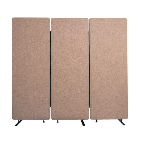 Offex Acoustic Fabric Room Divider in Desert Sand - 3 Pack
