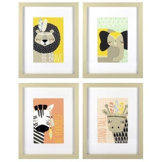 """RoomMates AVE10074 Four Piece """"Be Brave"""", """"Dream Big"""", """"Be Yourself"""", """"Stand Tall"""" Art Prints on Paper - N/A"""