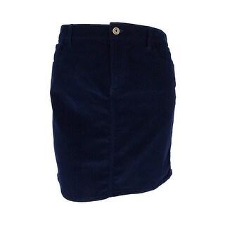 Tommy Hilfiger Women's Corduroy Mini Skirt (Navy, 14) - navy - 14