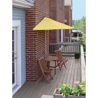 5-Piece Terrace Mates Standard Outdoor Patio Furniture Set 9' - Yellow Olefin