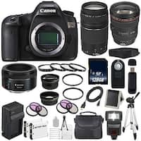 Canon EOS 5DS DSLR Camera (International Model) 0581C002 + EF 24-105mm f/4L IS USM Lens + Canon EF 75-300 III Bundle