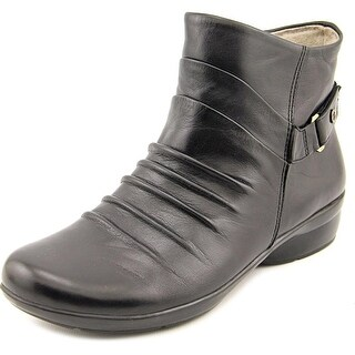 Naturalizer Caldo Women N/S Round Toe Leather Black Boot