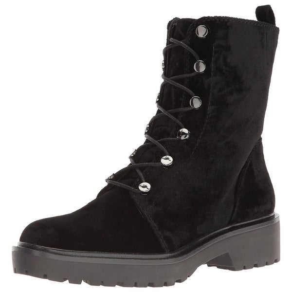GUESS Womens Weisy2 Fabric Closed Toe Ankle Fashion Boots