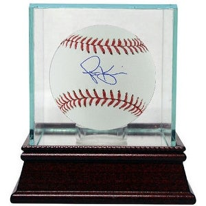 Scott Kazmir signed Rawlings Official Major League Baseball w/ Glass Case (Oakland Athletics)