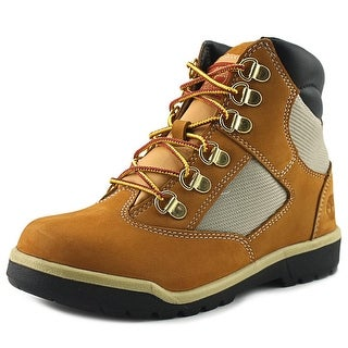 Timberland B Youth Round Toe Leather Tan Work Boot