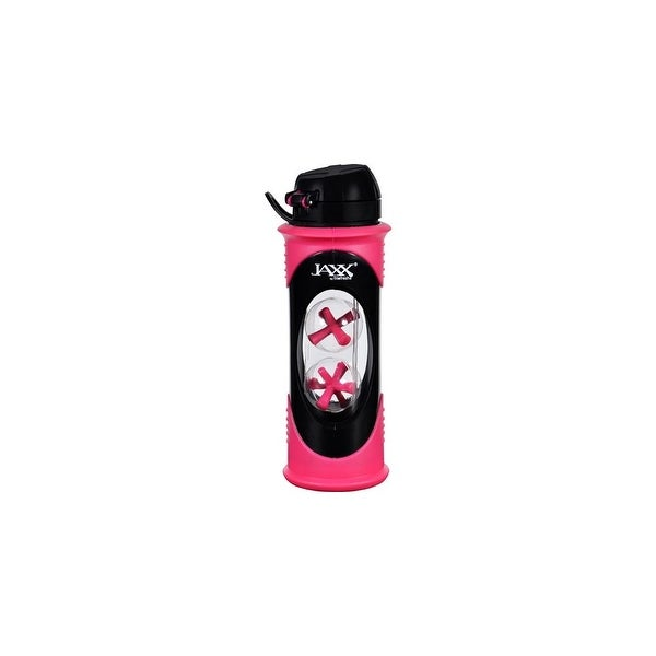 Fit and Fresh Jaxx Shaker Bottle - Glass - Pink - 20 oz - 1 Count Food Preparation